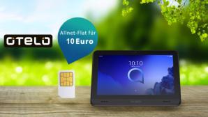 Otelo-Deal: Viel Datenvolumen, kleiner Preis, Gratis-Tablet©iStock.com/ widoko bagoes, iStock.com/ vectortatu, iStock.com/ winyuu , Alcatel , Otelo