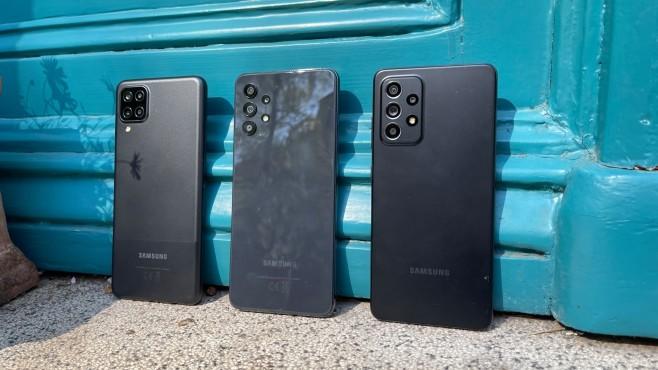 Galaxy A12, Galaxy A31, Galaxy A52 (5G)©COMPUTER BILD