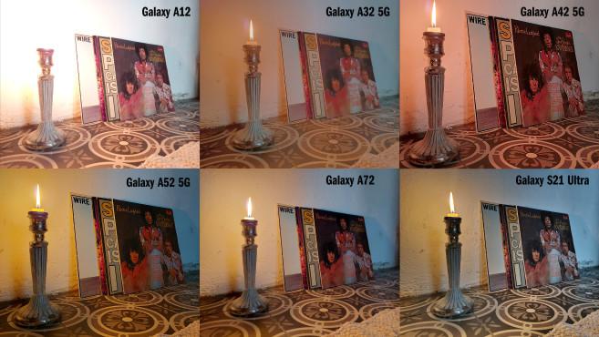 Kamera-Vergleich von A-Serie und S21 Ultra: Aufnahme bei Dunkelheit©COMPUTER BILD