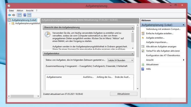 Windows 7/8/10: Aufgabenplanung-Tutorial – so arbeitet Ihr PC automatisch Die Aufgabenplanung startet Programme, zeigte früher Meldungen (Pop-up-Fenster) an und beherrscht selbst komplexe Einsatzszenarien.©COMPUTER BILD