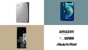 Amazon, Media Markt, Saturn: Top-Deals des Tages! © Amazon, Media Markt, Saturn, Western Digital, Apple, Samsung