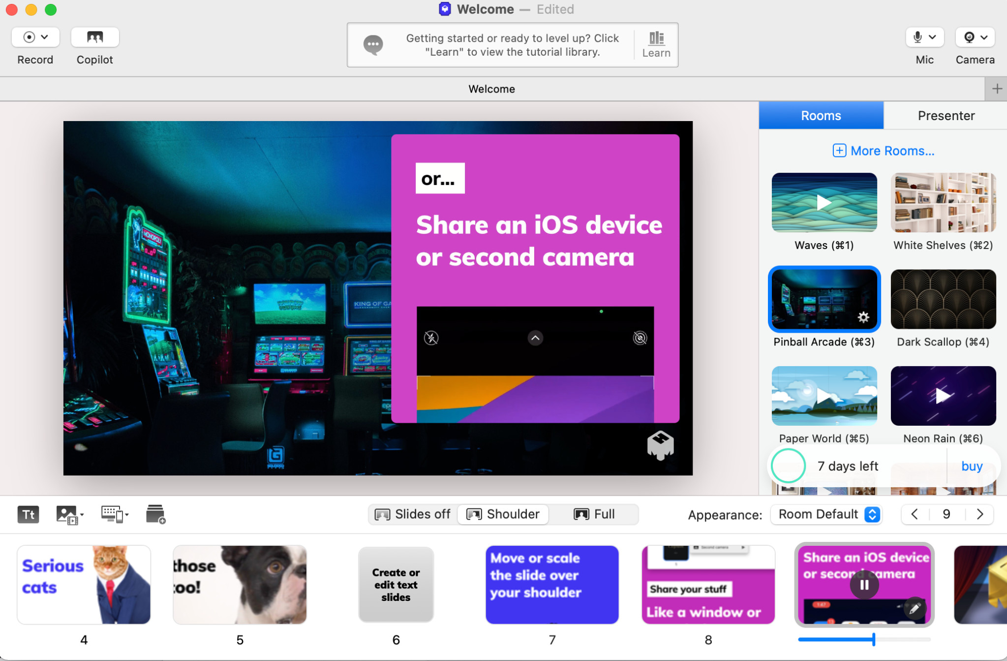 Screenshot 1 - mmhmm (Mac)