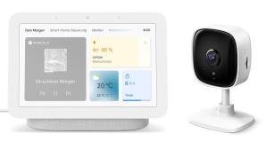 Google Nest Hub 2. Generation mit TP-Link Tapo C100©Google, TP-Link