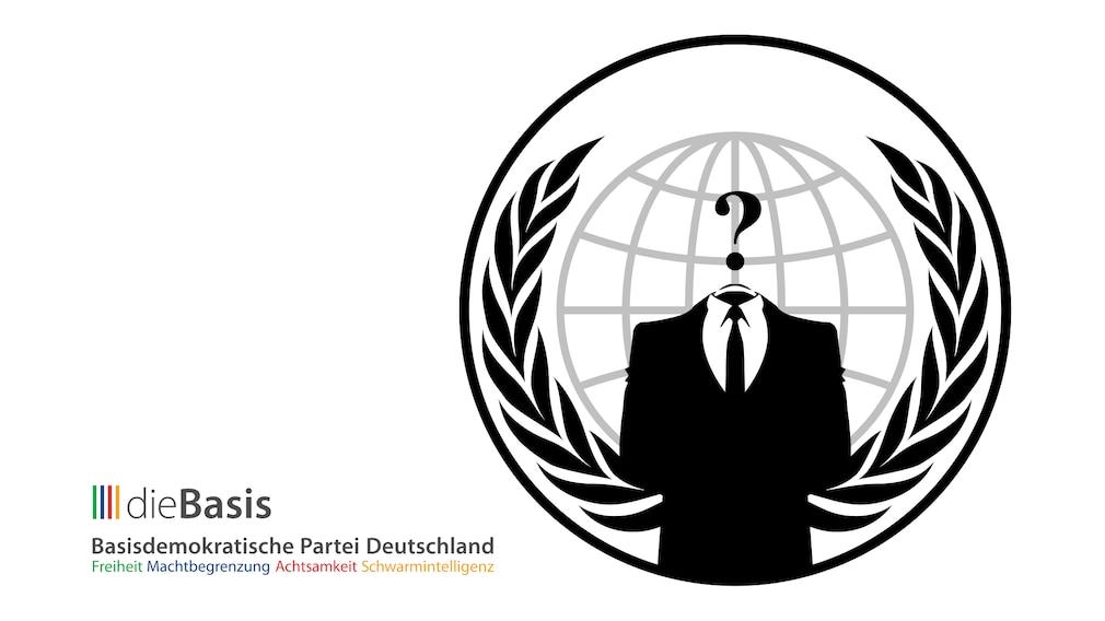 dieBasis: Anonymous erbeutet Daten von Corona-Verhamlosern©Basisdemokratische Partei Deutschland, Anonymous