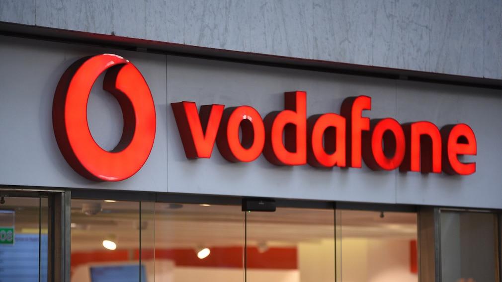 Vodafone-Leuchtreklame