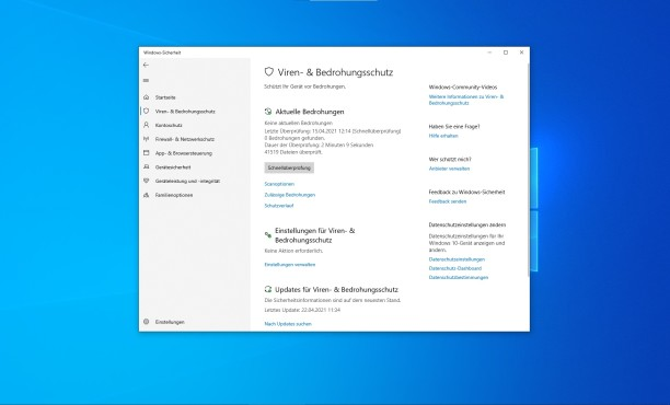 Windows Defender Dashboard©Microsoft
