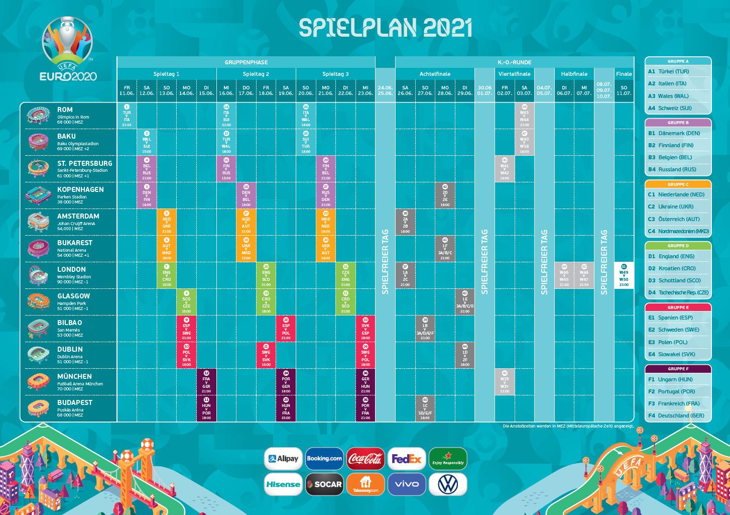 Screenshot 1 - EM-Spielplan