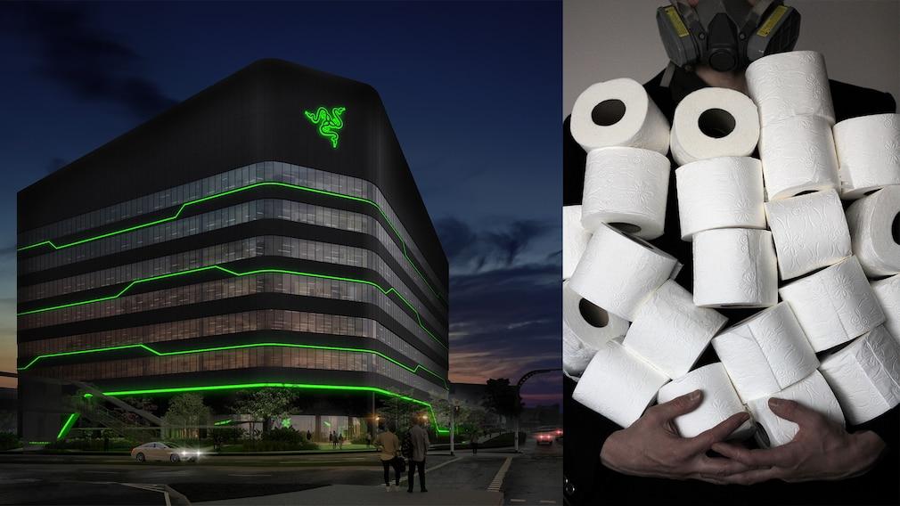 Razer investiert in Toilettenpapier