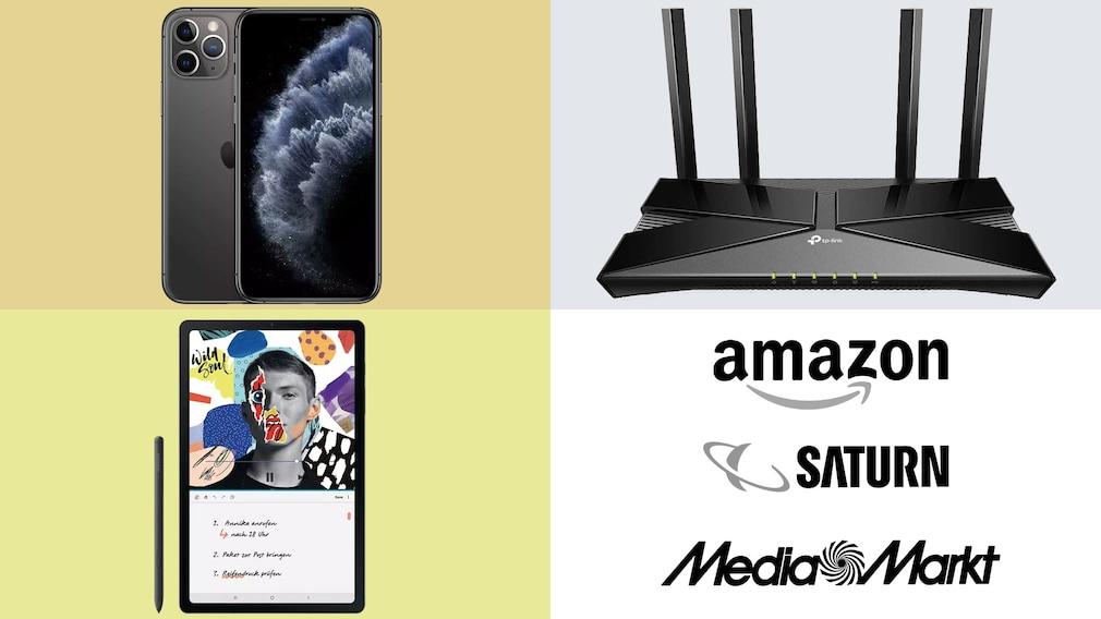 Amazon, Media Markt, Saturn: Top-Deals des Tages!©Amazon, Saturn, Media Markt, Apple, TP-Link, Samsung