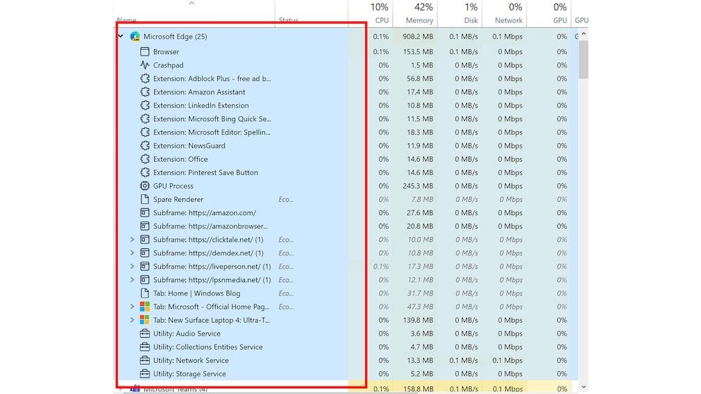 Windows 10 21H2: Neuerungen im Task-Manager