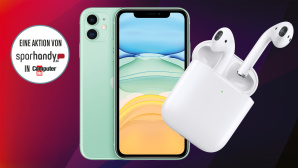 Sparhandy-Deal mit iPhone 11 + gratis AirPods2 © Apple, Sparhandy