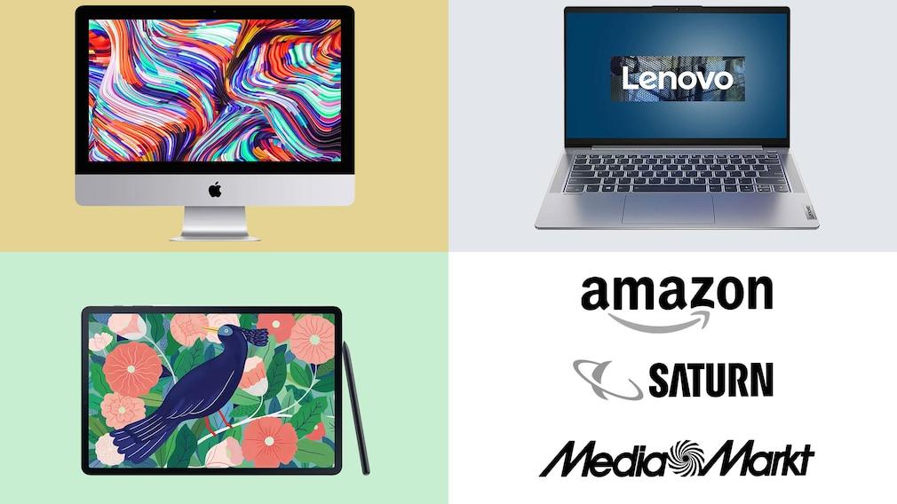 Amazon, Media Markt, Saturn: Top-Deals des Tages!©Amazon, Saturn, Media Markt, Apple, Lenovo, Samsung