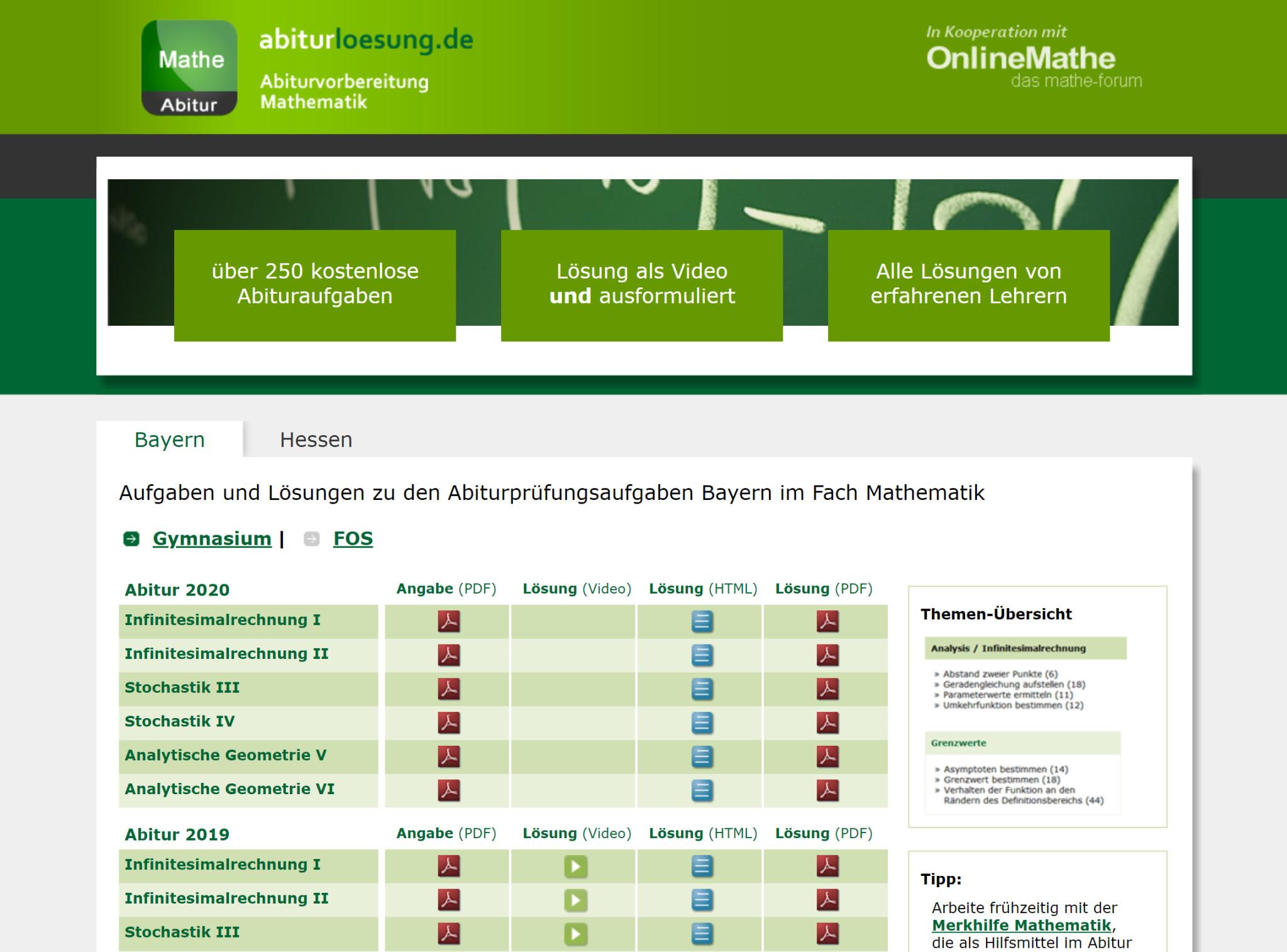 Screenshot 1 - Abiturlösung: Abivorbereitung Mathematik