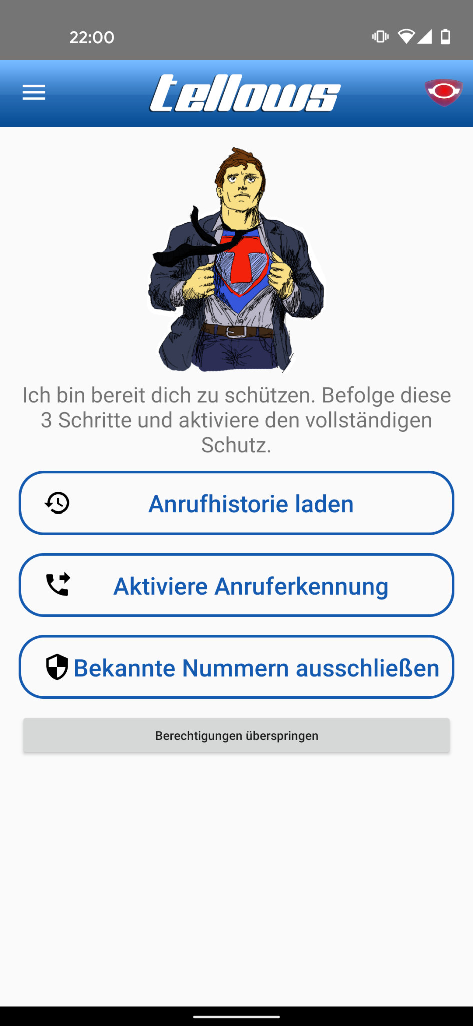 Screenshot 1 - Tellows: Anruferkennung & Blockierung (Android-App)
