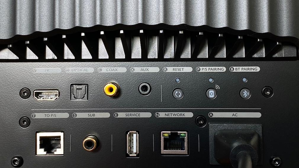 KEF LS50 Wireless II Anschlüsse.