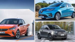 E-Autos - Kleinwagen-Stadtautos©Opel, Renaultm Fiat