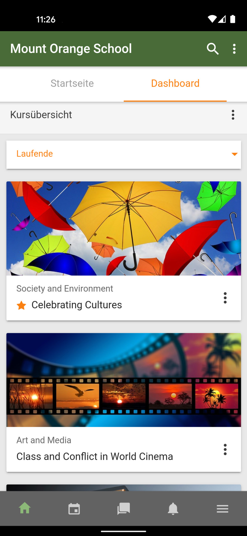 Screenshot 1 - Moodle (Android-App)
