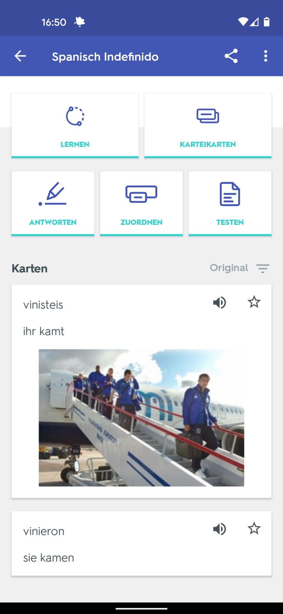 Screenshot 1 - Quizlet (Android-App)