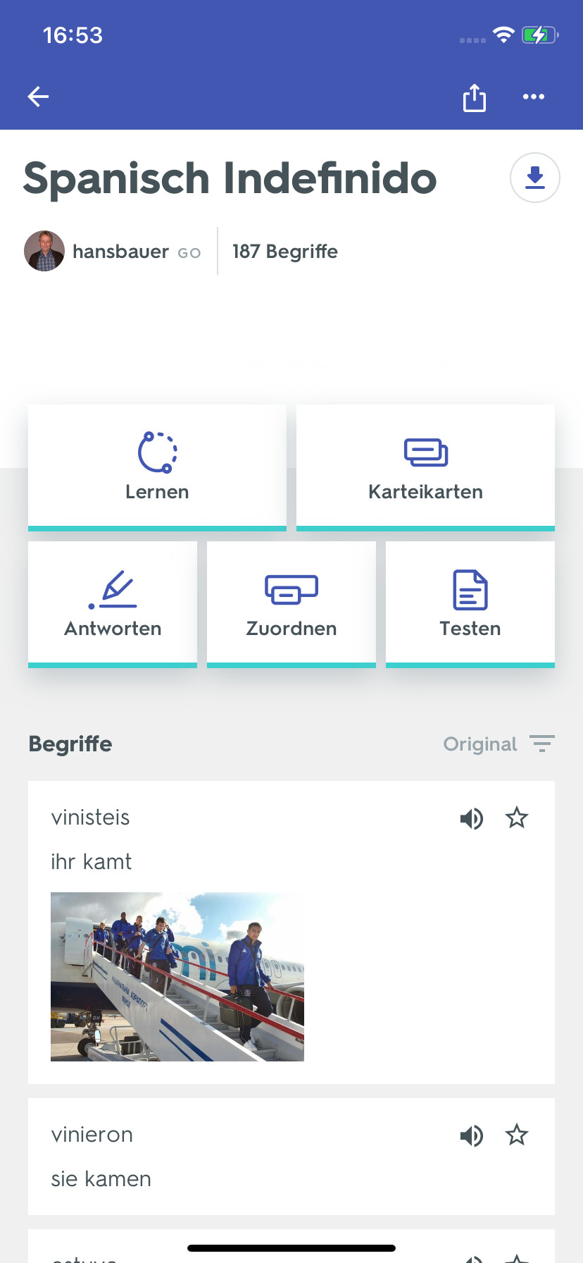 Screenshot 1 - Quizlet (App für iPhone & iPad)
