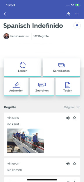 Quizlet (App für iPhone & iPad)