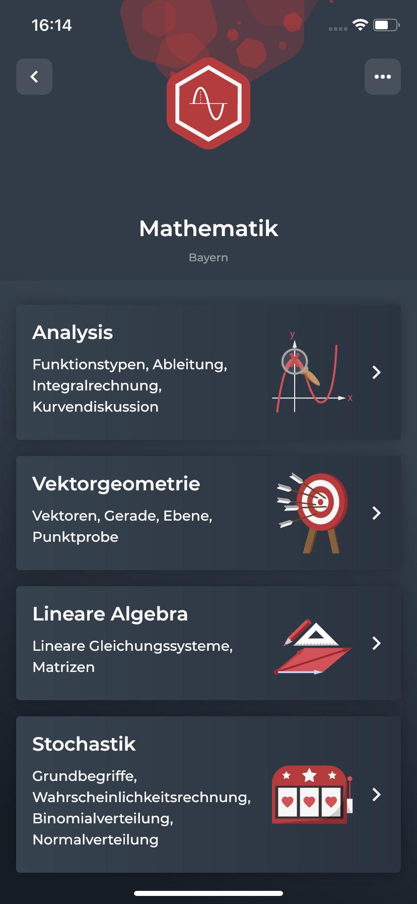 Screenshot 1 - Simpleclub Lernapp (App für iPhone & iPad)