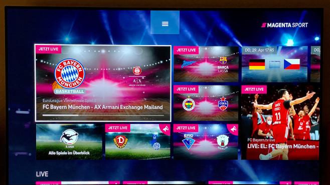 Die Telekom zeigt über ihr Internet-TV-Angebot Magenta Sport sämtliche Spiele der Fußball EM.©COMPUTER BILD