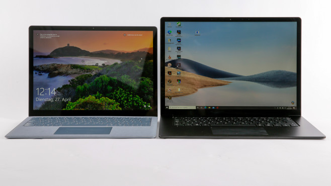 Microsoft Surface Laptop 4 Größenvergleich©COMPUTER BILD