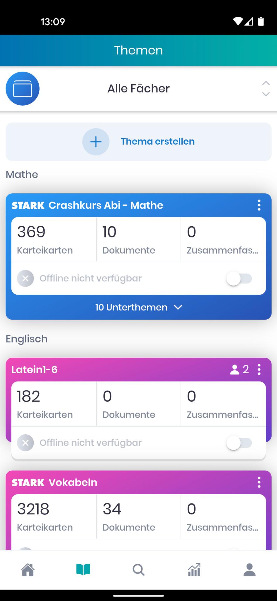 Screenshot 1 - StudySmarter Lernapp für Studium & Schule (Android-App)