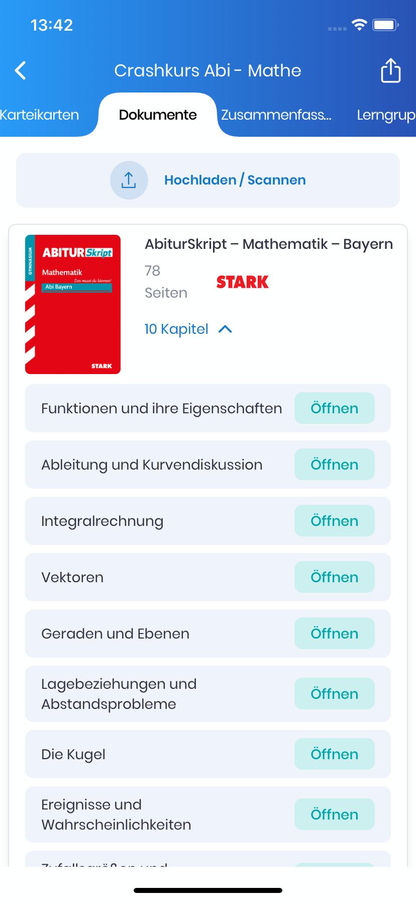 Screenshot 1 - StudySmarter Lernapp für Studium & Schule (App für iPhone & iPad)