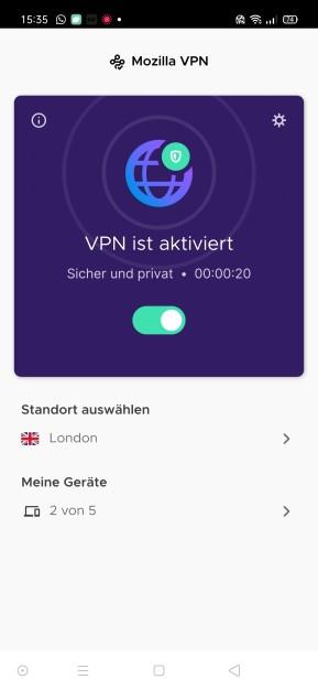 Mozilla VPN (Android-App)
