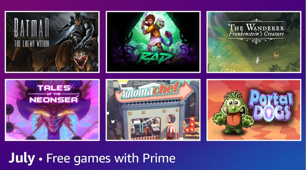 Amazon Prime Prime Gaming Juli