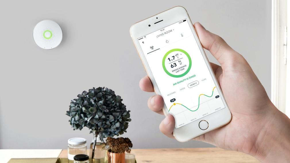 Airthings Wave misst Radon und die Luftqualität