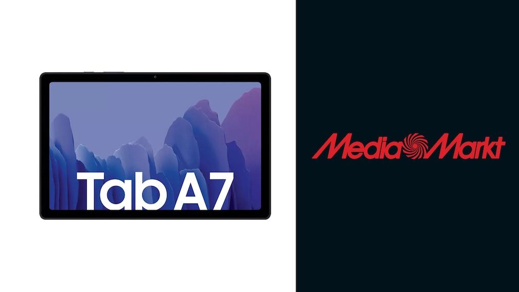 Samsung Tab A7, Media Markt Logo