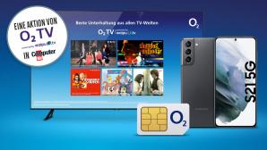 Jubiläumsgewinnspiel: O2 TV, Samsung Galaxy S21 + O2 Unlimited 5G-Tarif gewinnen©Samsung, O2