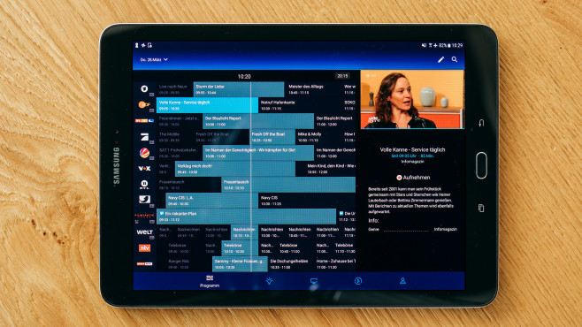 Programmfunktion in der O2 TV Mobile-App © O2