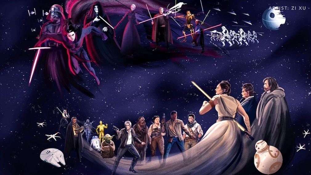 """""""Star Wars""""-Artwork von Zi Xu."""