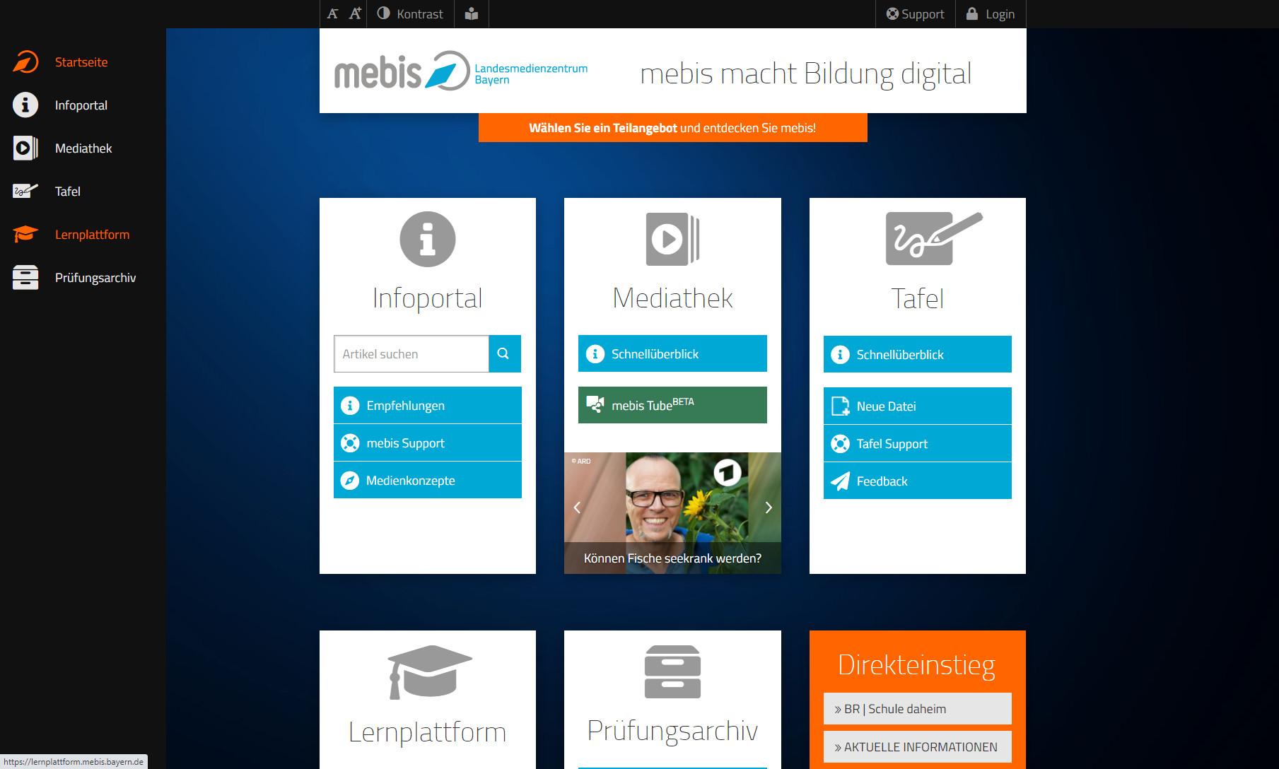 Screenshot 1 - Mebis: Digitaler Unterricht