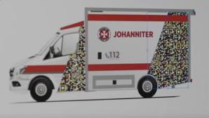Johanniter-Krankenwagen mit QR-Code©YouTube