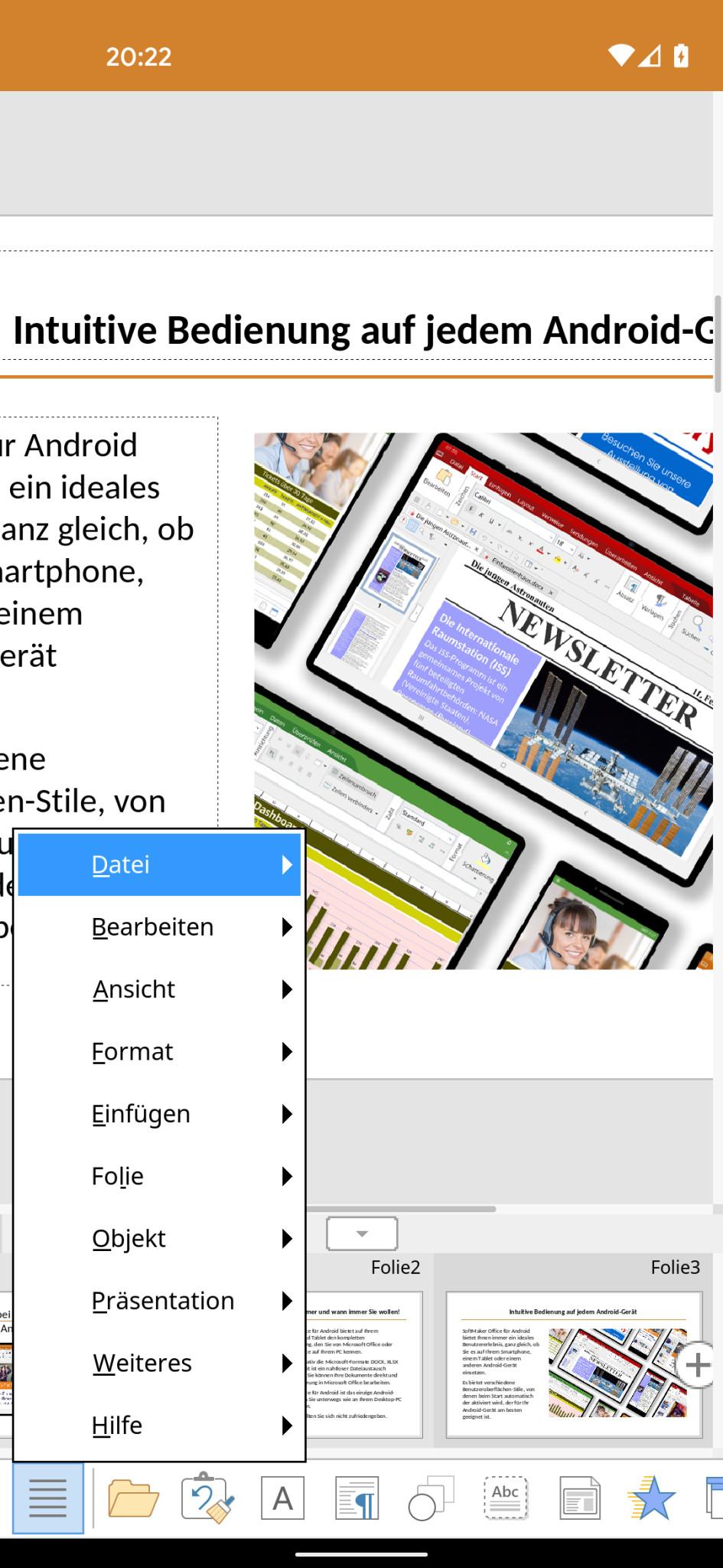 Screenshot 1 - SoftMaker Office Presentations (Android-App)
