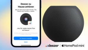 Smartphone und Home Pod mini©Deezer