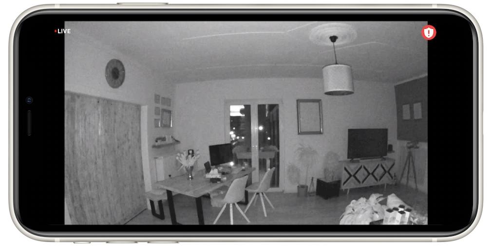Arlo Essential Indoor, Kamerabild nachts