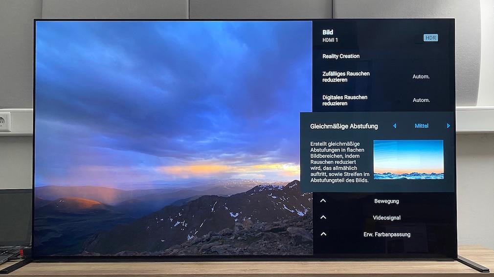 Der Sony A90J bietet zahlreiche sinnvolle Optionen zur Bildoptimierung.