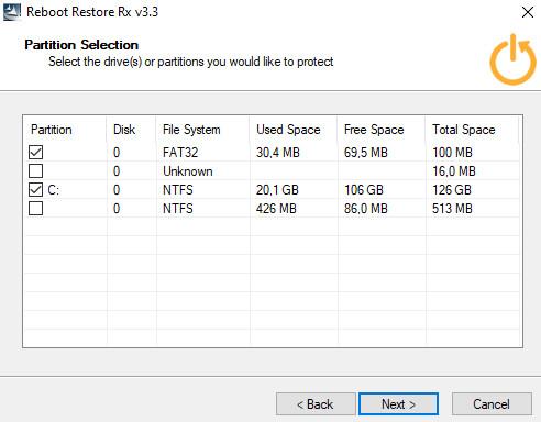 Screenshot 1 - Reboot Restore Rx