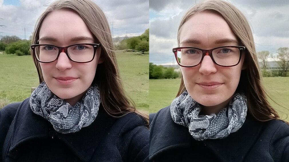 Selfie Vergleich Realme 8 5G