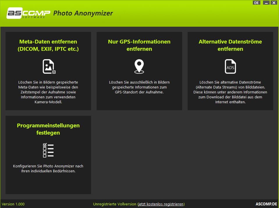 Screenshot 1 - Photo Anonymizer