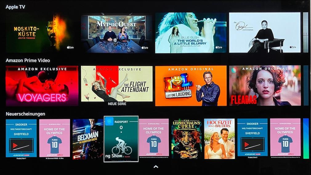 Auf seinem Startbildschirm unterbreitet der LG OLED C1 jede Menge Unterhaltungsangebote.