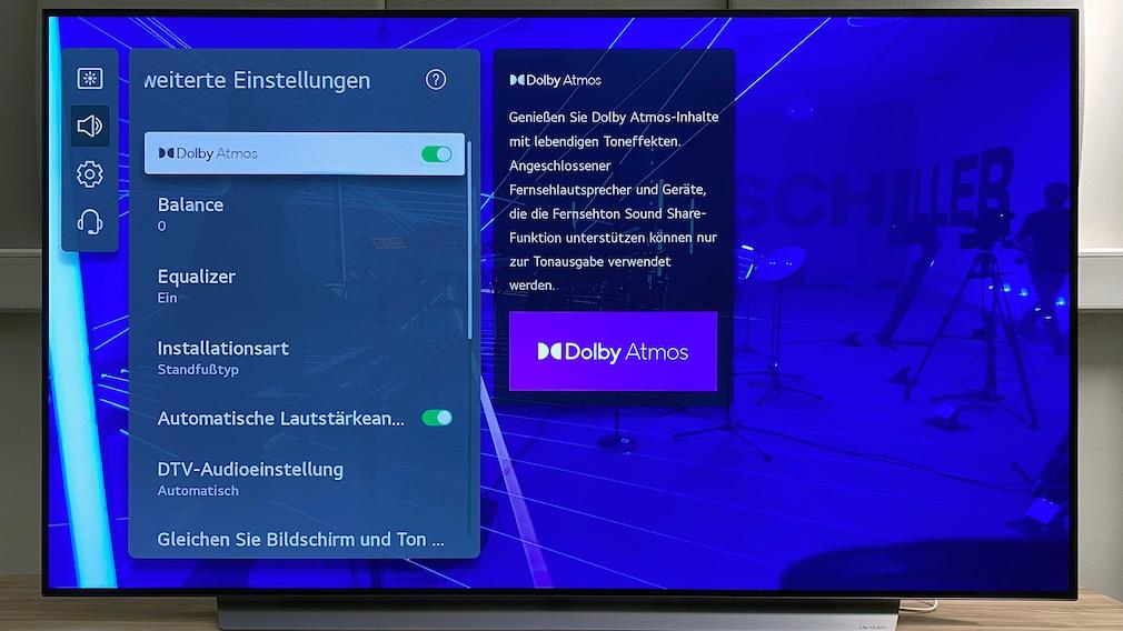 Mit Filmen und Musik im Dolby Atmos Tonformat läuft der LG OLED C1 zur klanglichen Höchstform auf (Bild: Schiller, Berlin - Moskau).