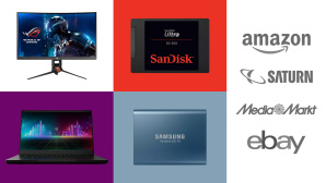 Amazon, Media Markt, Saturn: Top-Deals des Tages! © Amazon, Saturn, eBay, Media Markt, Razer, Asus, SanDisk, Samsung