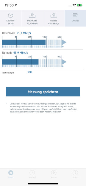 Breitbandmessung (App für iPhone & iPad)