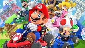 Mario-Kart-Charaktere in ihren Autos©Nintendo